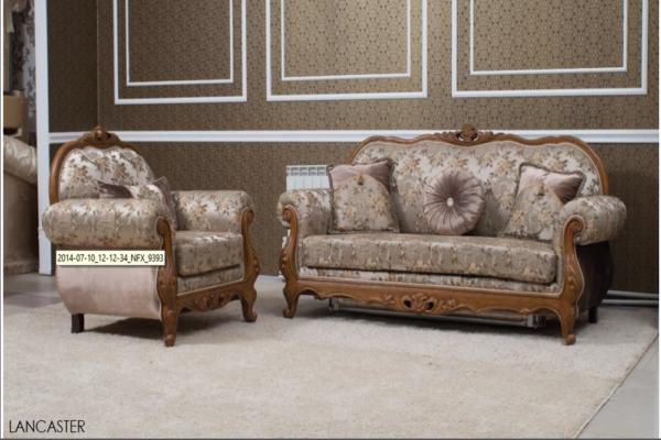 Диван трехместный Lancaster купить в салоне-студии мебели Барселона mnogospalen.ru много спален мебель Италии классические современные