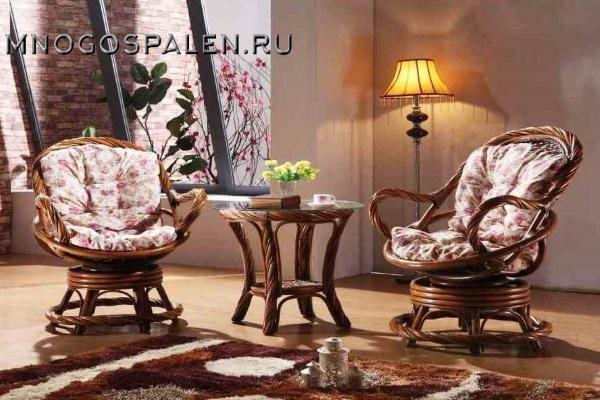 Комплект мебели из ротанга арт.3052 купить в салоне-студии мебели Барселона mnogospalen.ru много спален мебель Италии классические современные