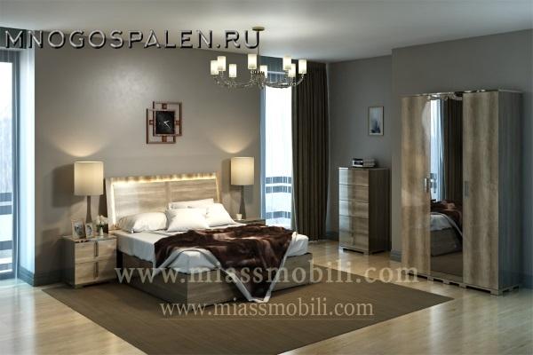 Спальня Canaletto дуб каньон MiassMobili купить в салоне-студии мебели Барселона mnogospalen.ru много спален мебель Италии классические современные