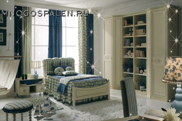 Детская кровать Bambino GM 02 купить в салоне-студии мебели Барселона mnogospalen.ru много спален мебель Италии классические современные