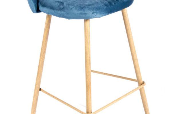 Барный стул Vivian синий купить в салоне-студии мебели Барселона mnogospalen.ru много спален мебель Италии классические современные