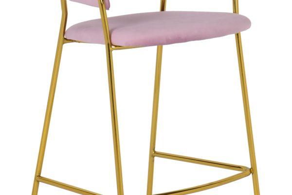 Барный стул Turin пудровый купить в салоне-студии мебели Барселона mnogospalen.ru много спален мебель Италии классические современные