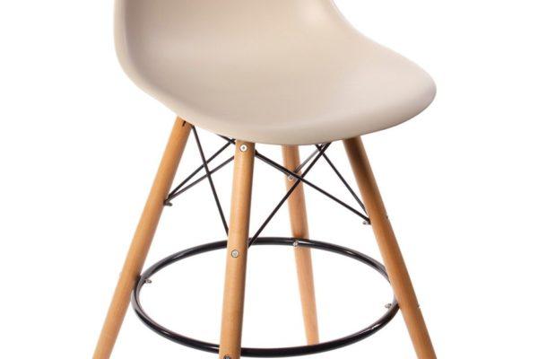Стул Eames барный бежевый купить в салоне-студии мебели Барселона mnogospalen.ru много спален мебель Италии классические современные