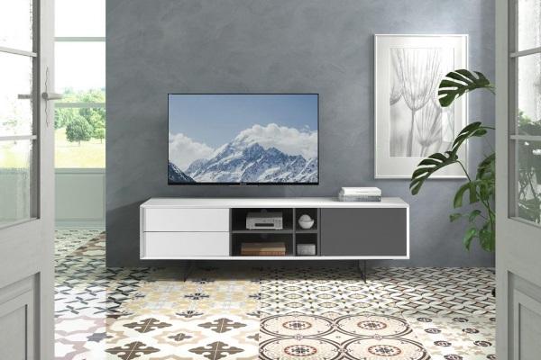 ТВ тумба DUPEN TV131 WHITE купить в салоне-студии мебели Барселона mnogospalen.ru много спален мебель Италии классические современные